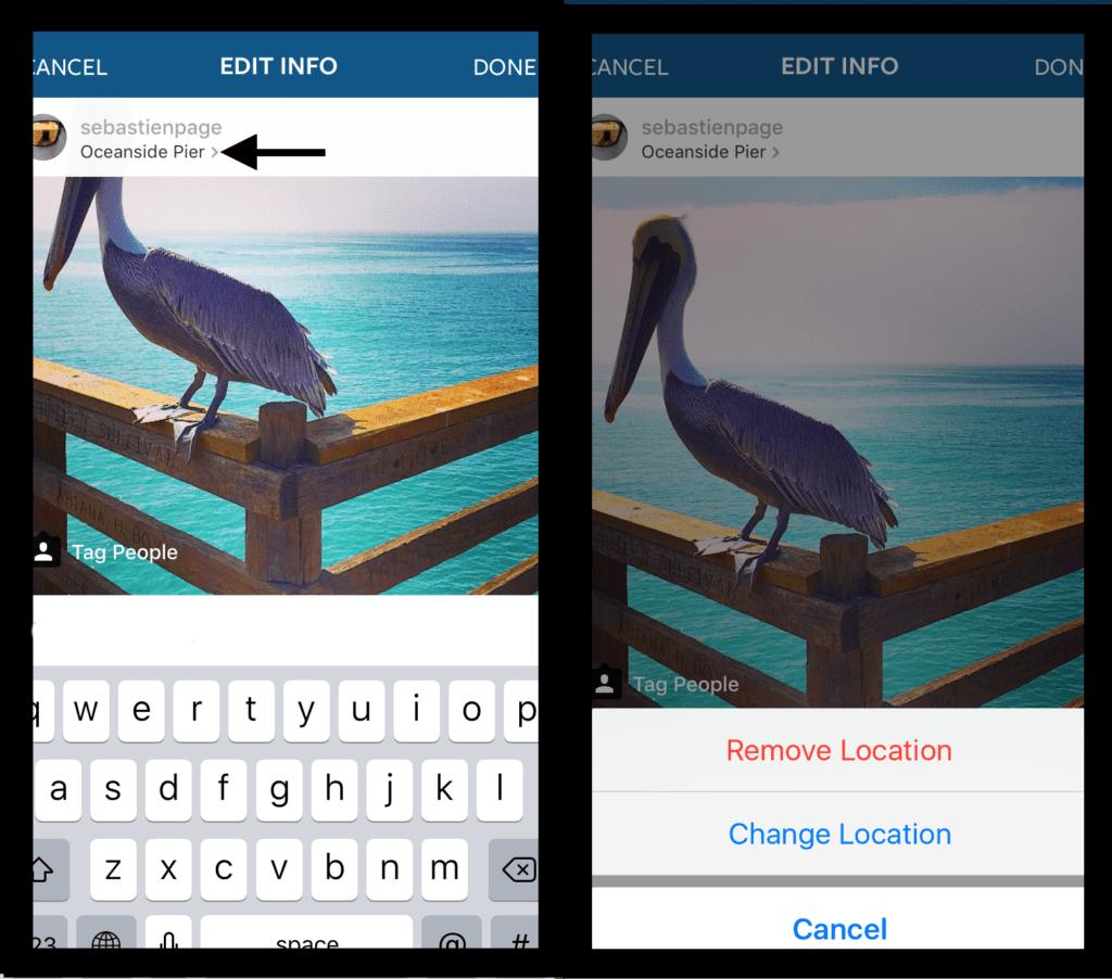 Как изменить,убрать, удалить местоположение в Инстаграм