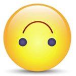 Перевёрнутый смайлик с улыбкой