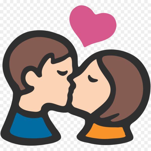 Целующиеся смайлики с сердечком