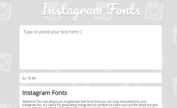 Приложение Fonts for Instagram