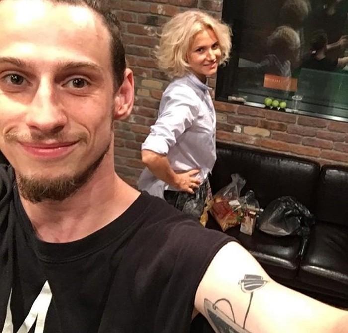 Алексей Брижа со своей женой