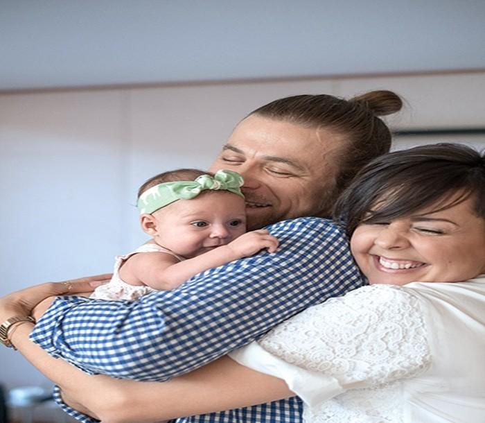 ольга шелест и её с мужем ребёнок