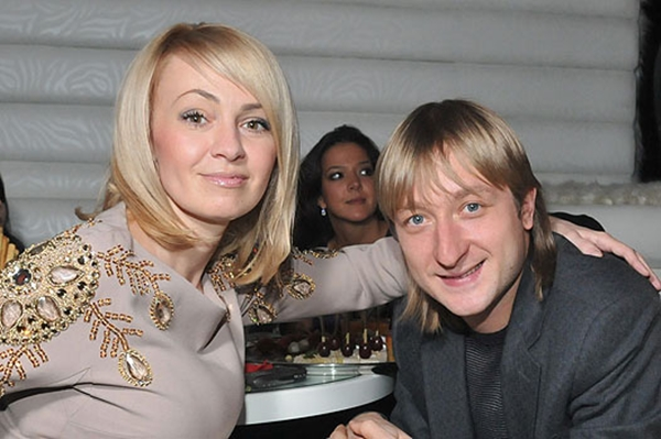 Евгений Плющенко с Яной